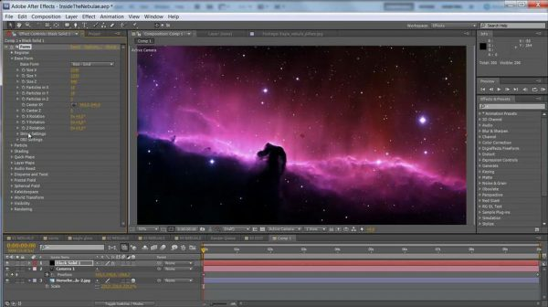 Create animated nebulas in After Effects with Trapcode Form and Starglow