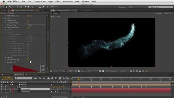 Getting Started with Trapcode Particular 2 – Part 4 – Physics: Air