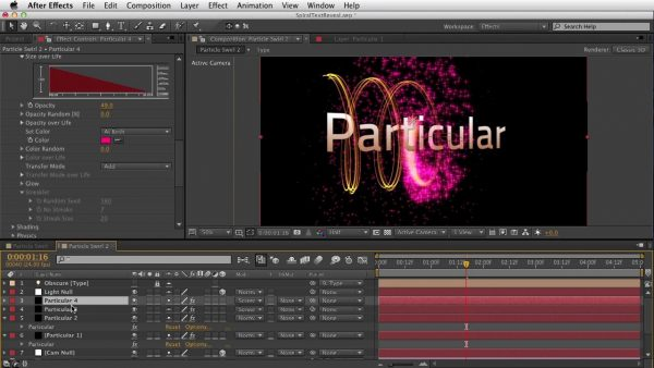 Getting Started with Trapcode Particular 2 – Part 2 – Emitter & Particle