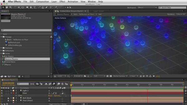 Getting Started with Trapcode Particular 2 – Part 5 – Physics: Bounce