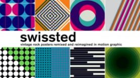 S-W-I-S-S-T-E-D / Rock posters remixed in motion graphics